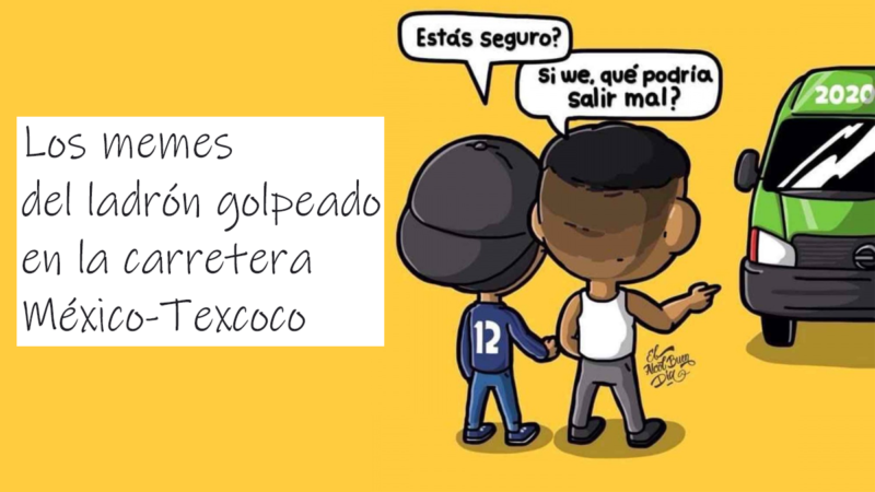 Golpiza a ratero en combi del municipio de Texcoco en México